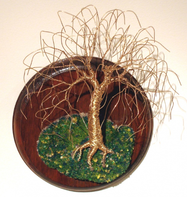 Willow on Round Base - Wall Art Sculpture