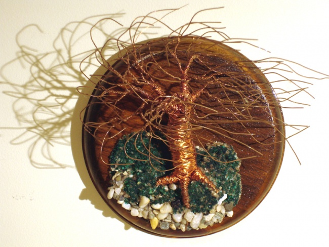 Wind Swept on Round Base - Wall Art Sculpture