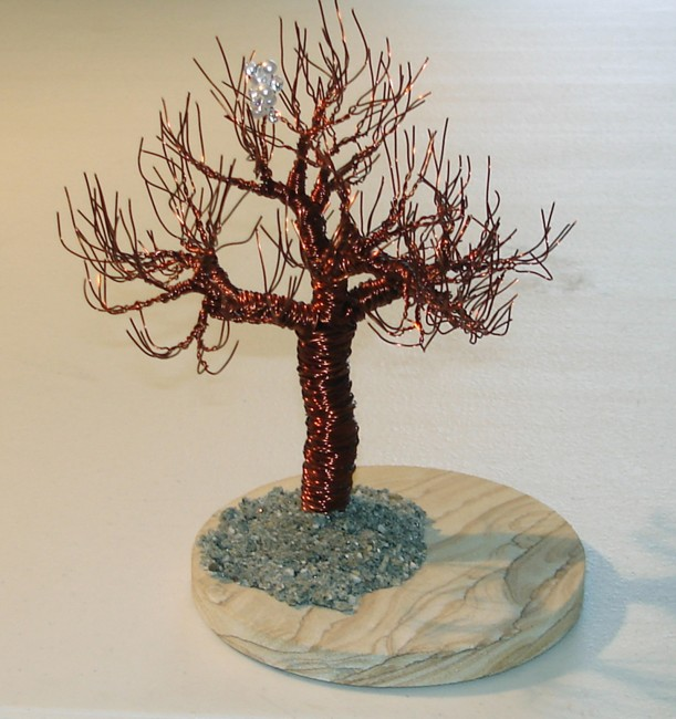 Joshua Tree with Blossom, Wire Tree Sculpture