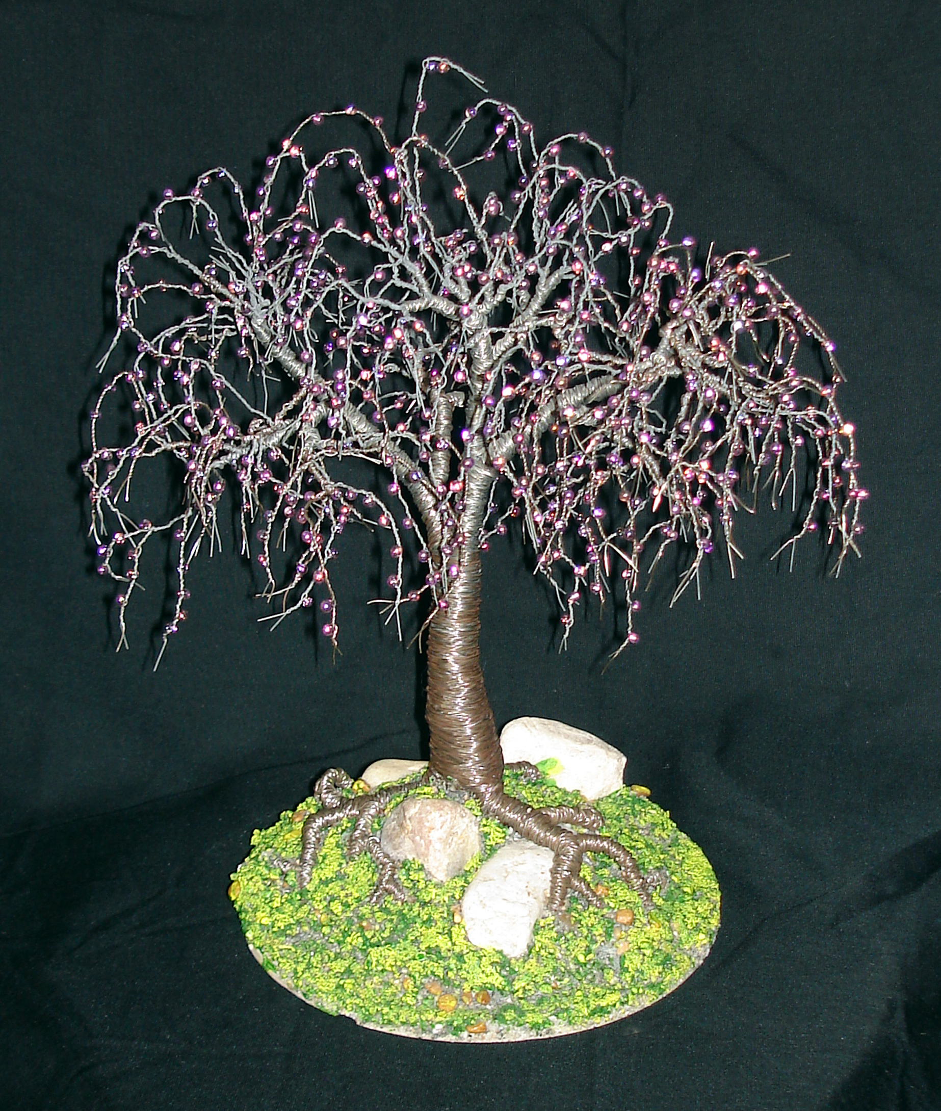 Steel Elm, Beaded wire tree sculpture   SalVillano   Foundmyself