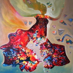 Inner dream - Woman abstract painting