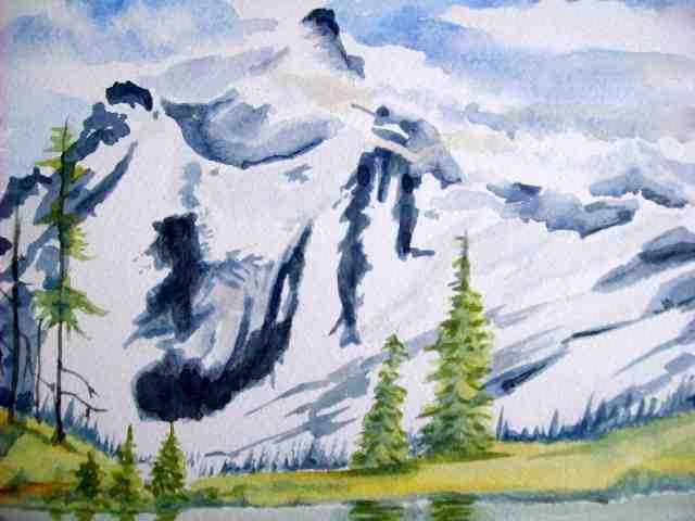 Avalanch Rocky Mountains landscape - 21.4KB