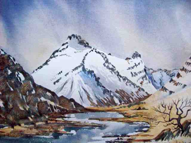 Glen Coe watercolour painting