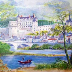 Chateau Amboise watercolour painting