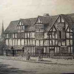 Shakespears Birthplace pen and ink drawing