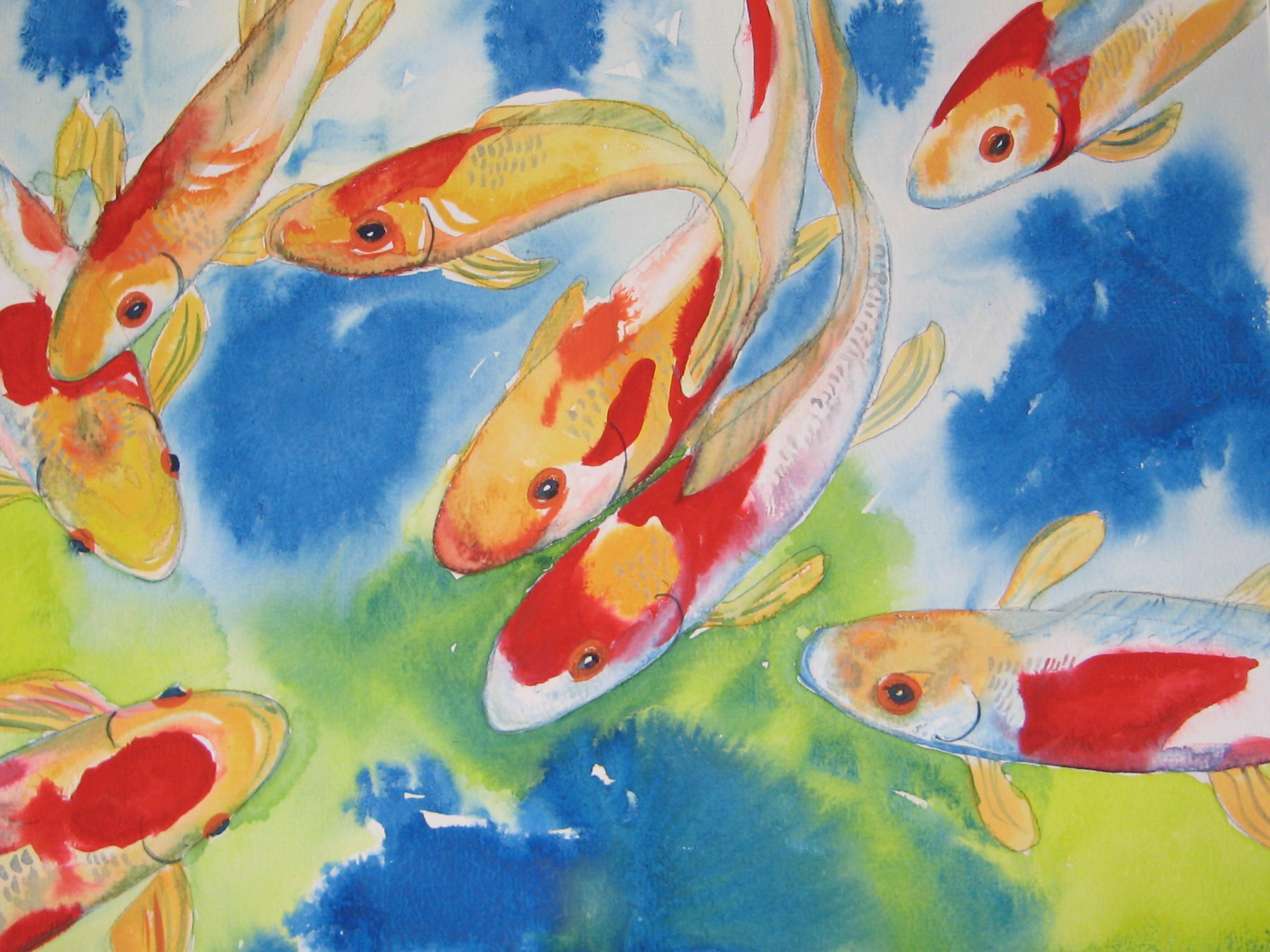 Koi carp rebecca milne foundmyself for Koi carp artwork