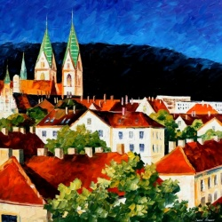 GERMANY - FREIBURG limited edition giclee of L.AFREMOV paint