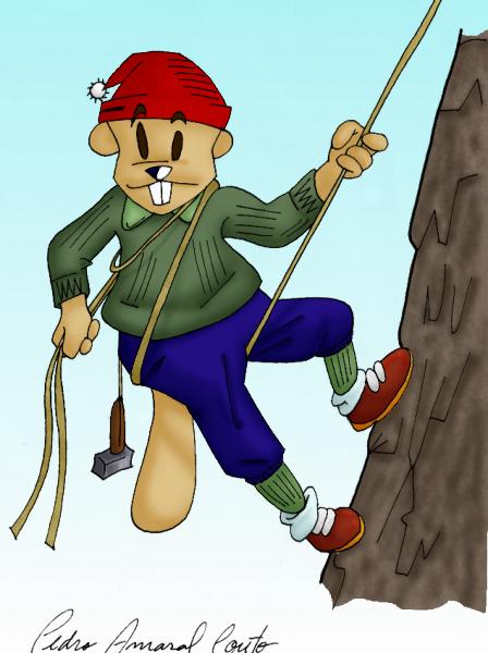 Beaver Climbing Mountain Cartoon Pedroac Foundmyself