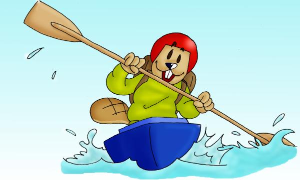 Boat Cartoon Png Beaver in Boat Cartoon