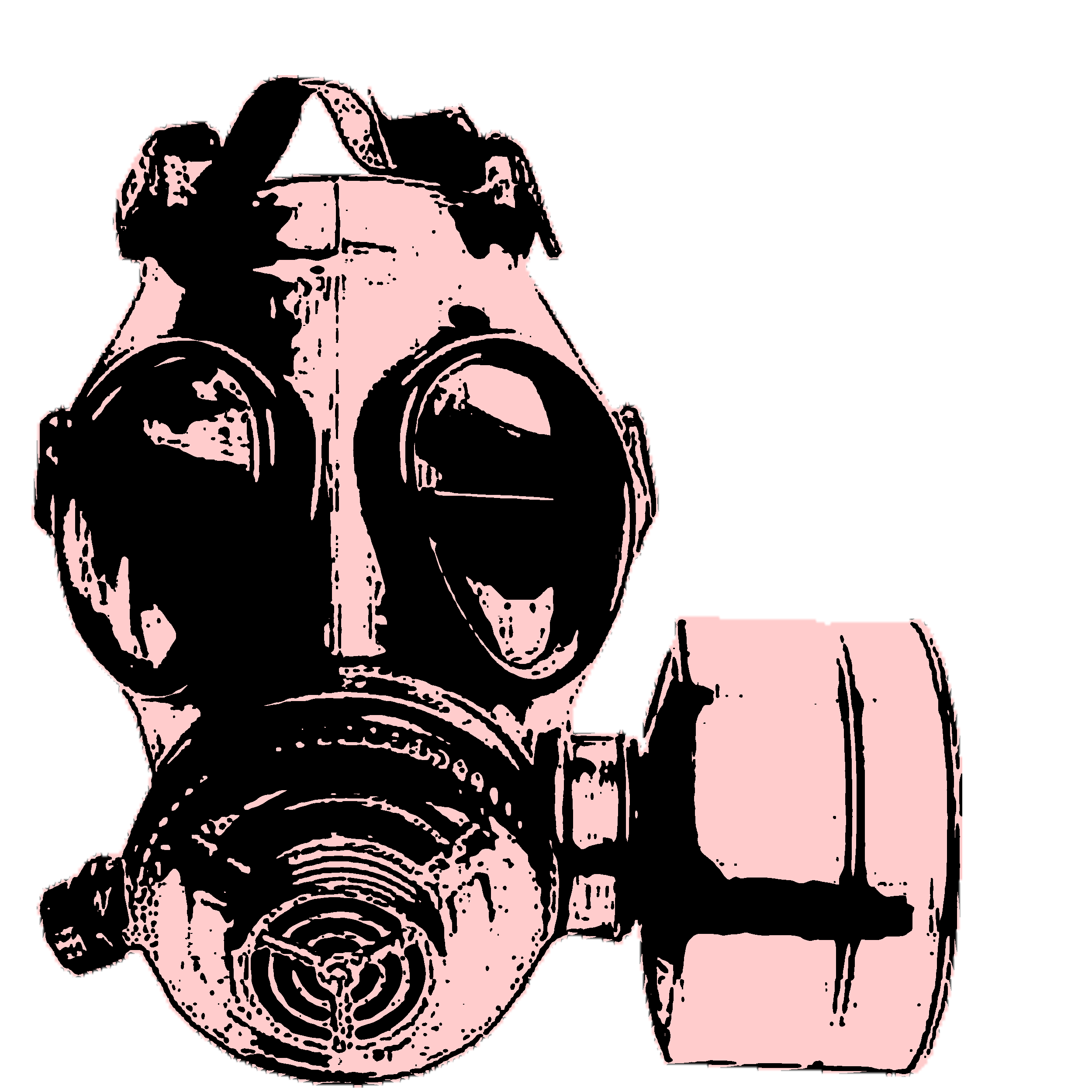 Gas Mask In Pink And Black