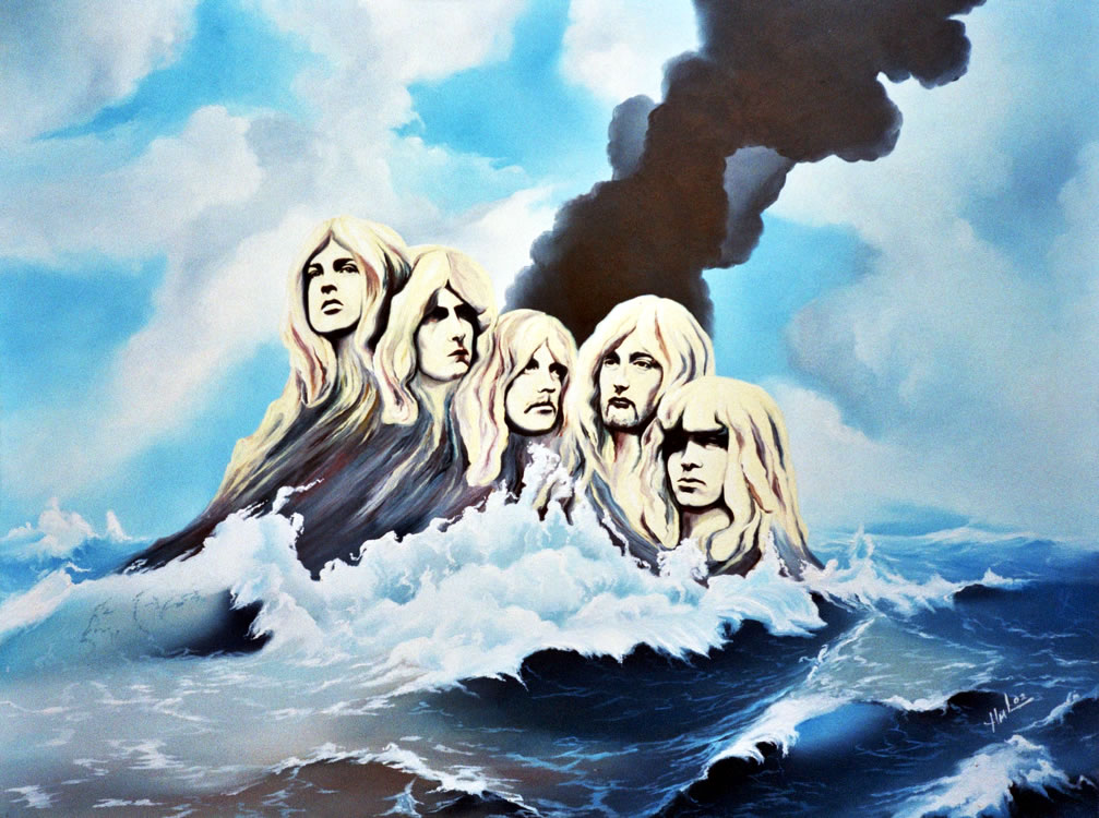 Image result for deep purple smoke on the water images