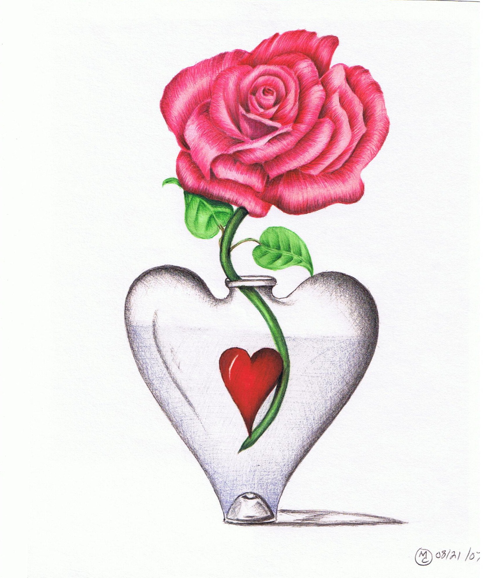 Rose in a heart vase michaelcameron foundmyself rose in a heart vase floridaeventfo Choice Image