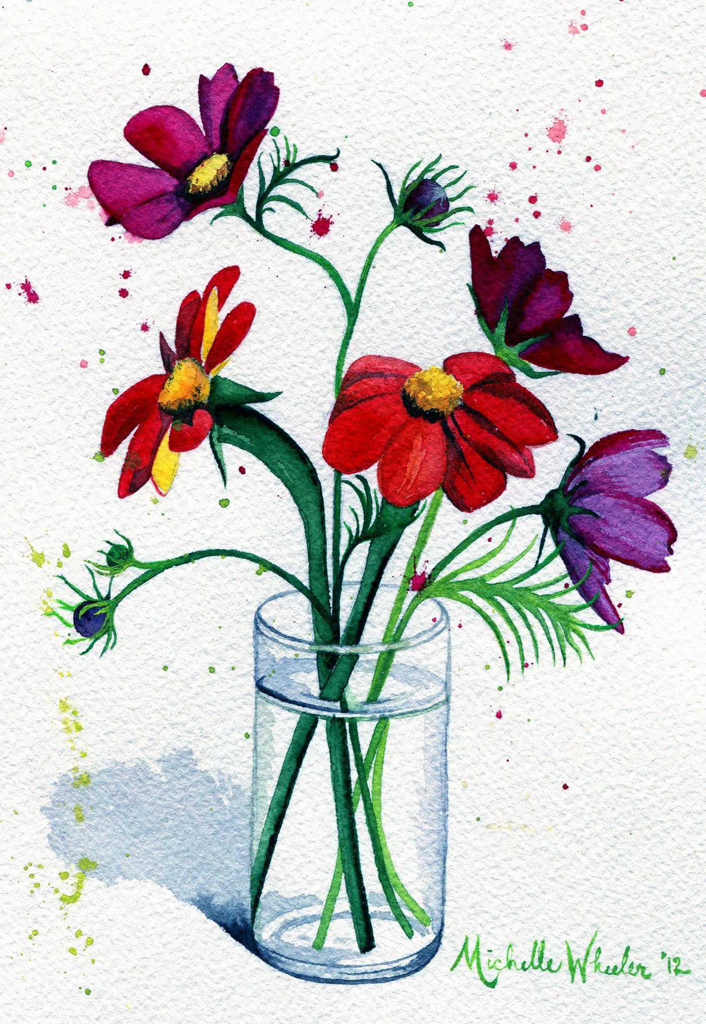 Dancing Flowers In Juice Glass Michelleko Foundmyself