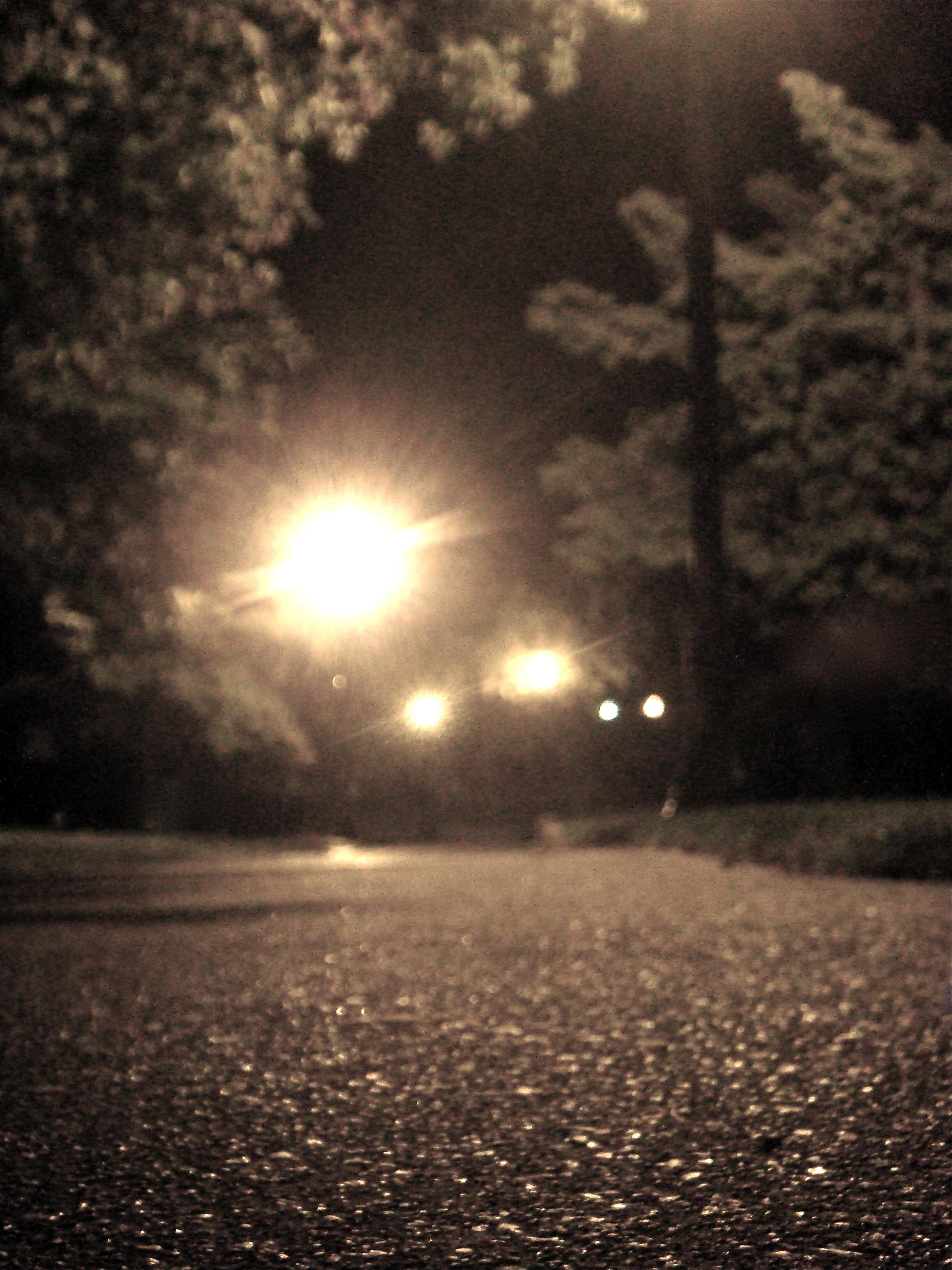 Sidewalk At Night