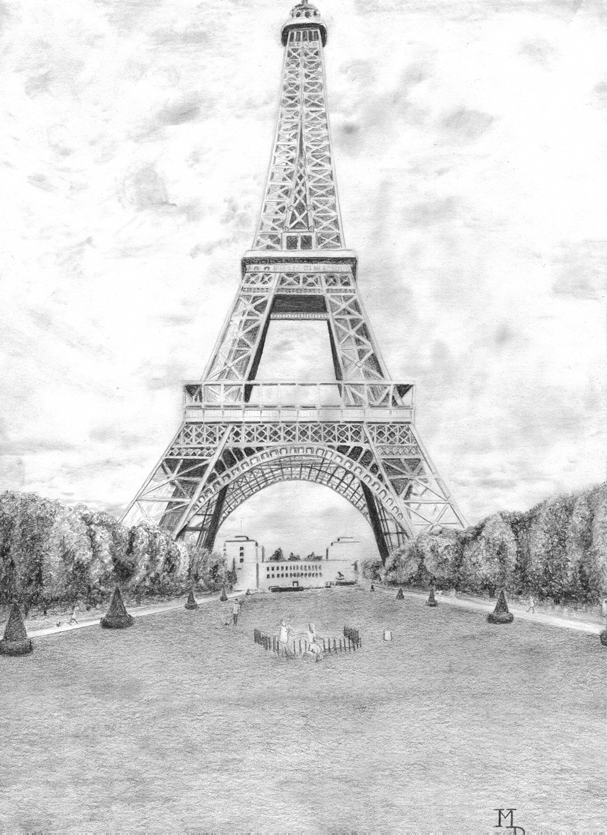 Eiffel Tower Pencil Sketch Eiffel Tower | ...
