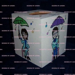 Beatles Cartoon Tissue Box