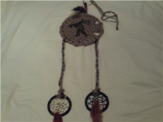 kokopelli shield with dreamcathers