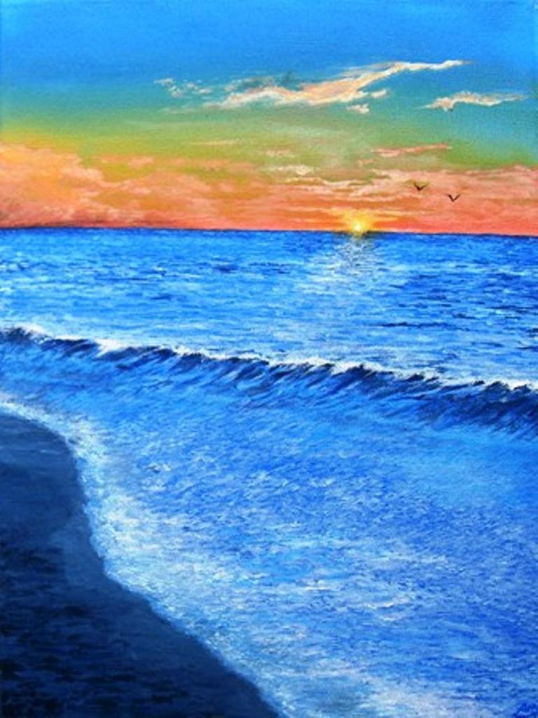 sunset ocean alanminshull foundmyself