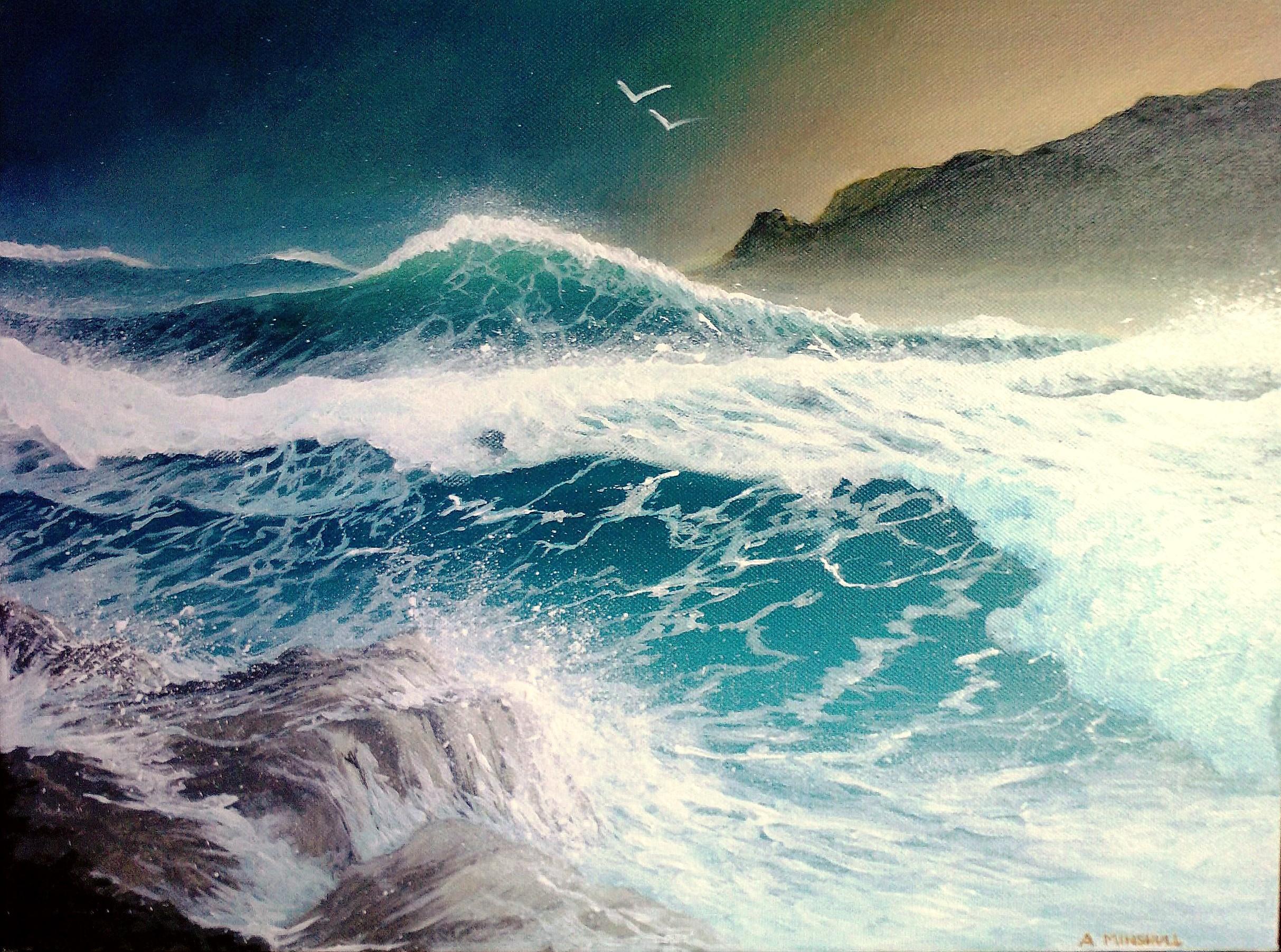 Storm At Sea - Acrylic
