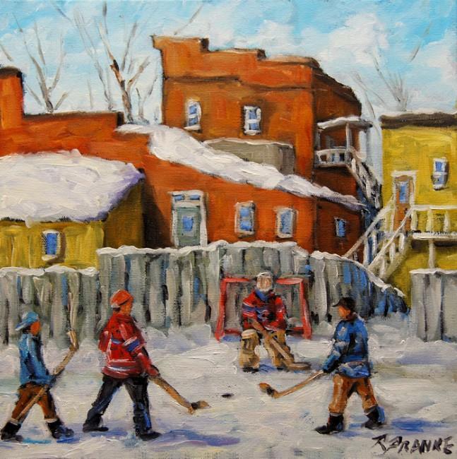 Back Lane Hockey created by Prankearts
