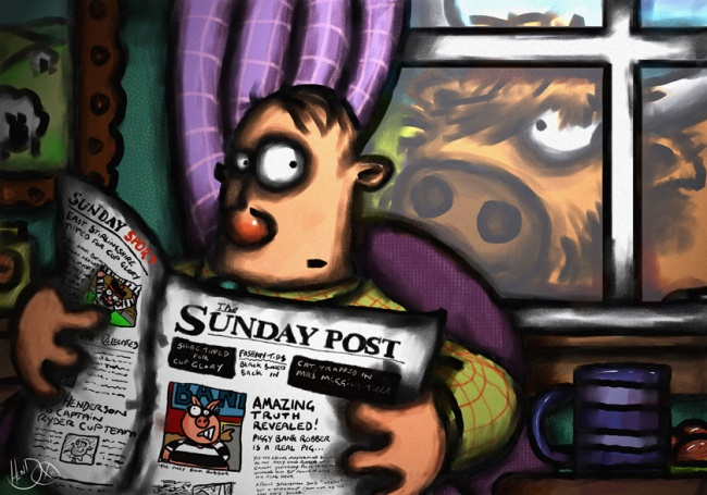 The coo that liked the Sunday Post