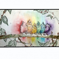 Rainbow Birds: SOLD