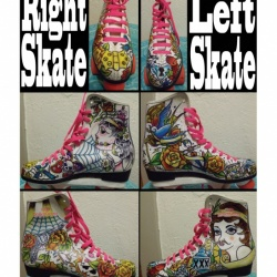 Tattoo Derby Skates: SOLD