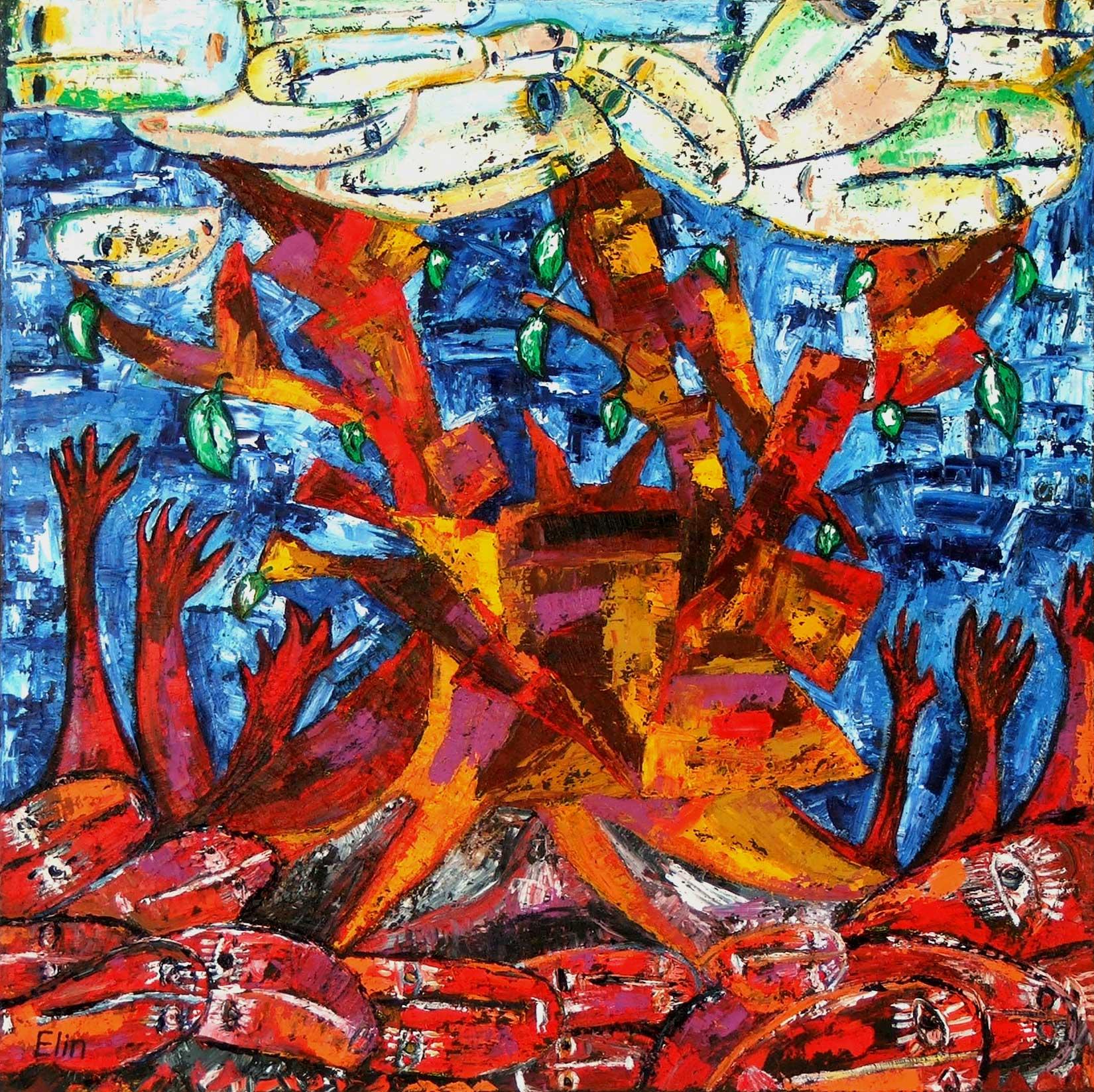 Tree Of Life Oil Painting Bogomolnik Elinbogomolnik Foundmyself