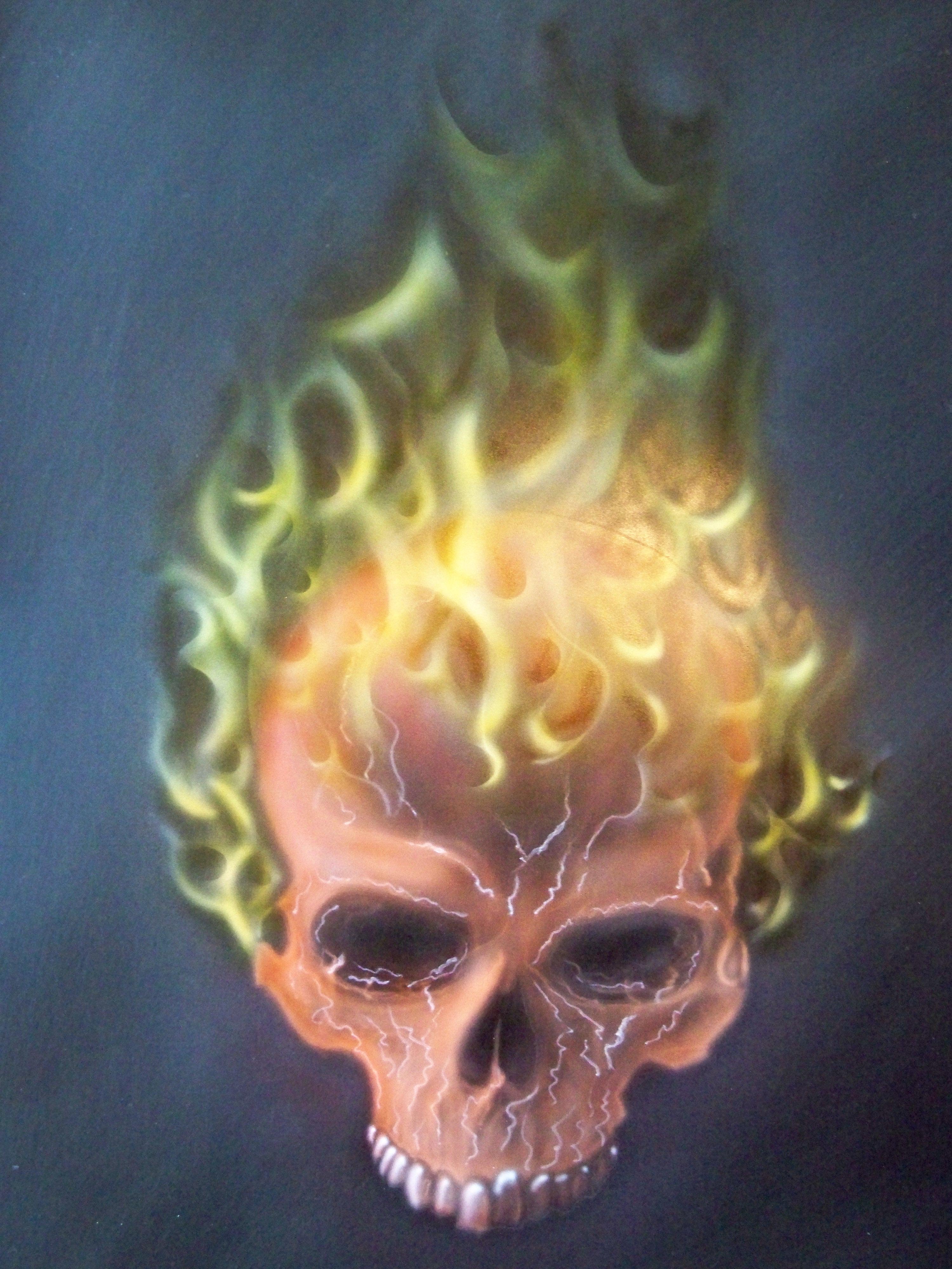Skull on fire scorchedpaint foundmyself skull on fire voltagebd Choice Image