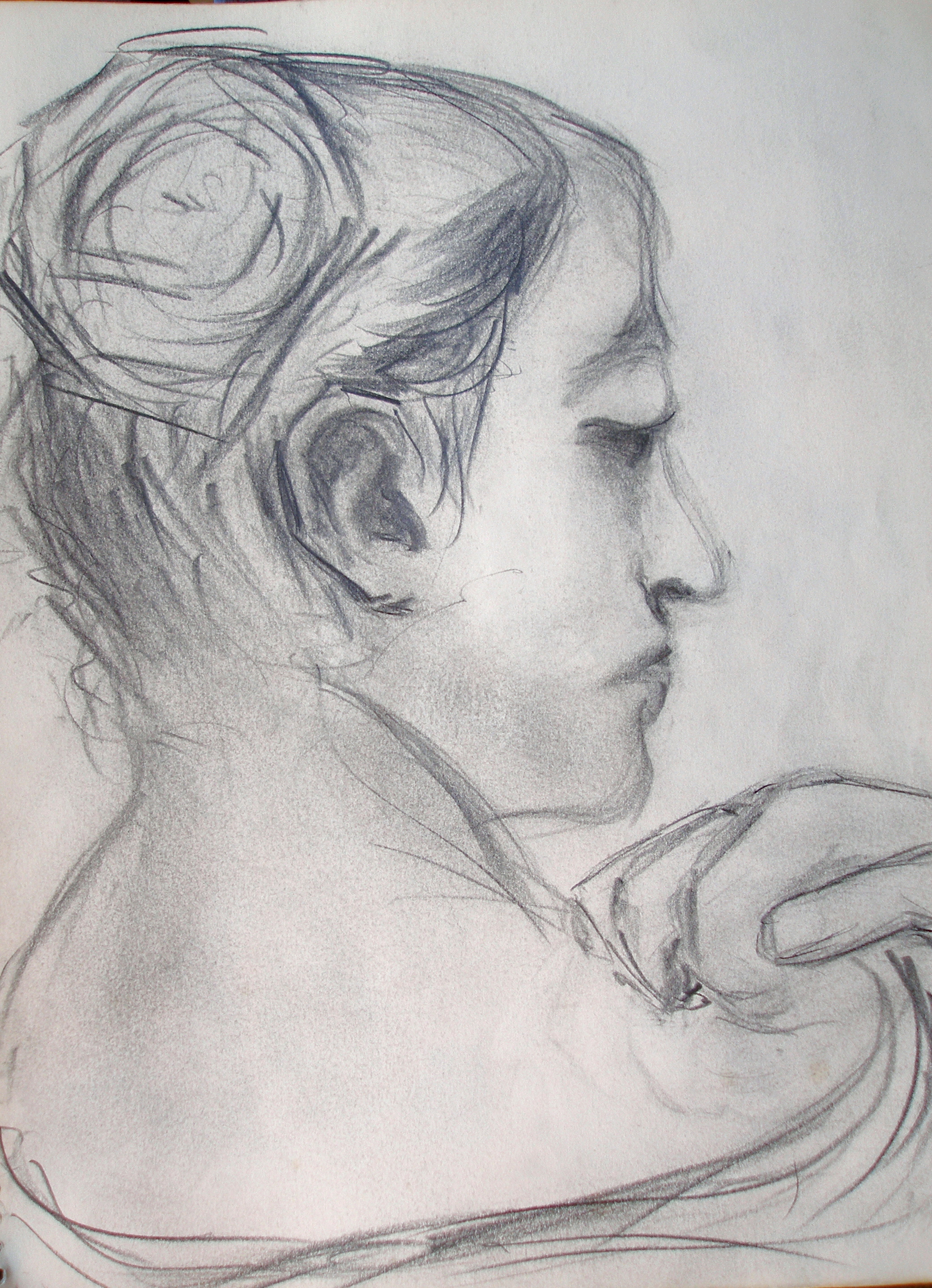 Back Head Drawing Woman Study Back View Head