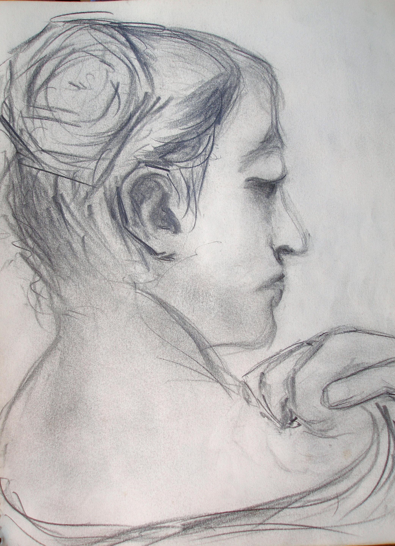 Back Head Drawing Woman Study Back View Head