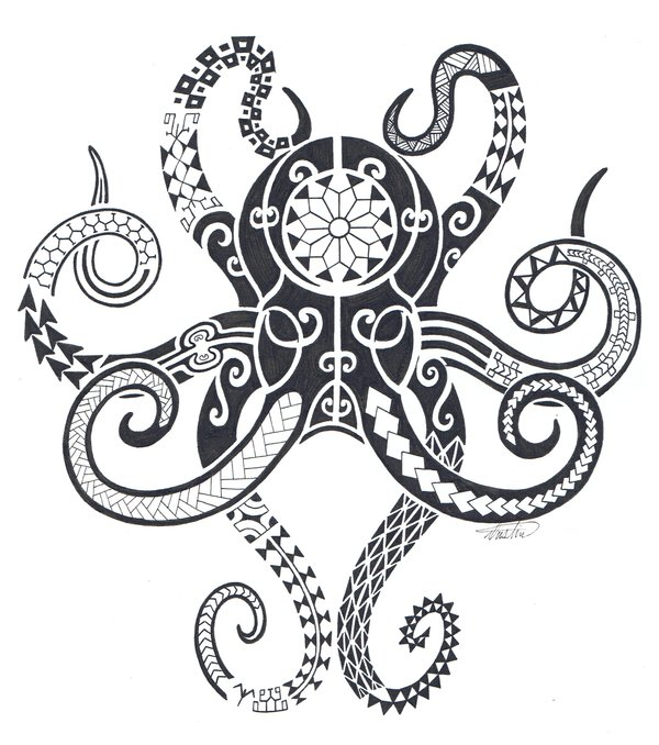 Tribal Octopus Deadly Ink Foundmyself