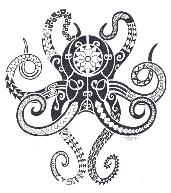tribal octopus deadly ink foundmyself. Black Bedroom Furniture Sets. Home Design Ideas