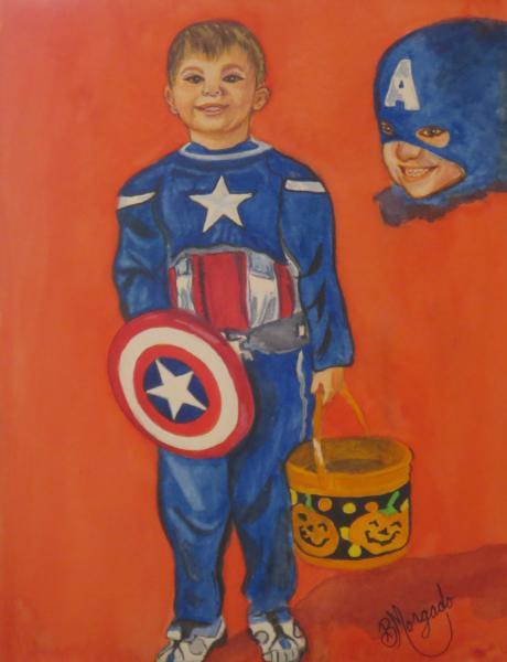 Max as Captin America