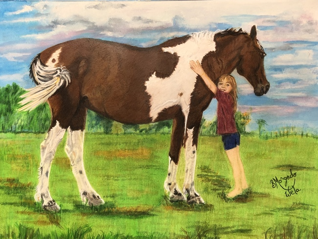 Olive n Painted Horse