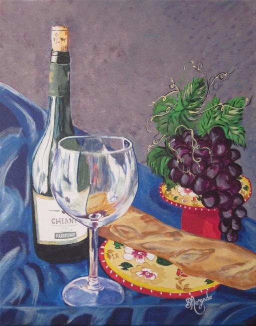 Bread,Wine and Grapes
