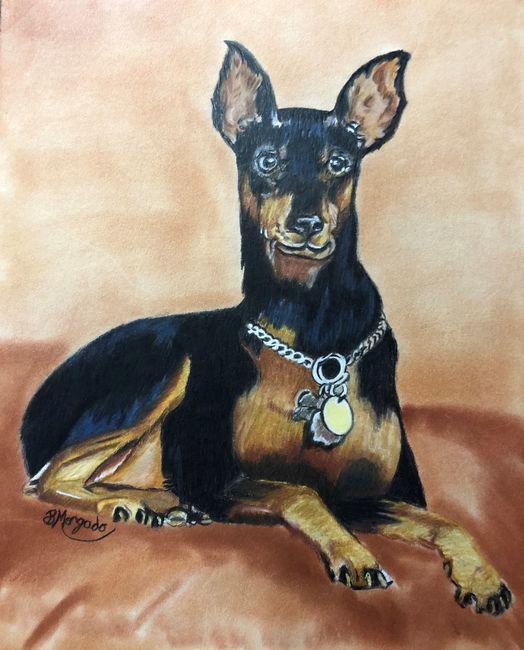 ChooChoo comissioned pet portrait .