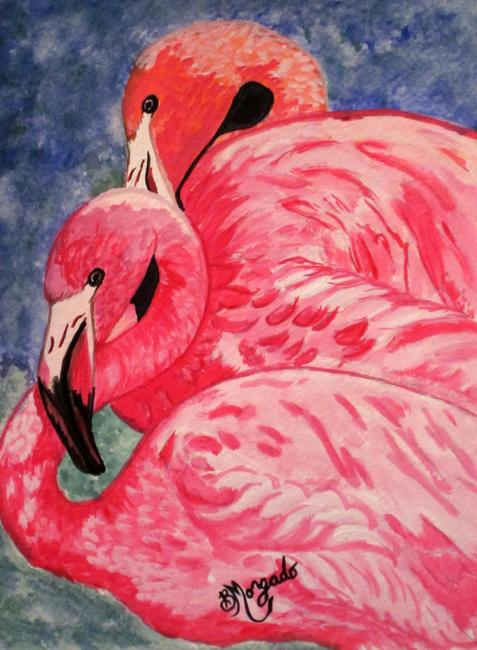 Twin Flamingos