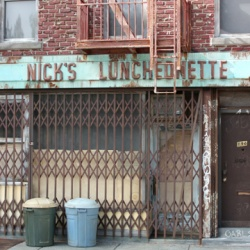 Nick's Luncheonette - Mixed Media Sculpture