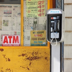 Bodega pay phone in miniature
