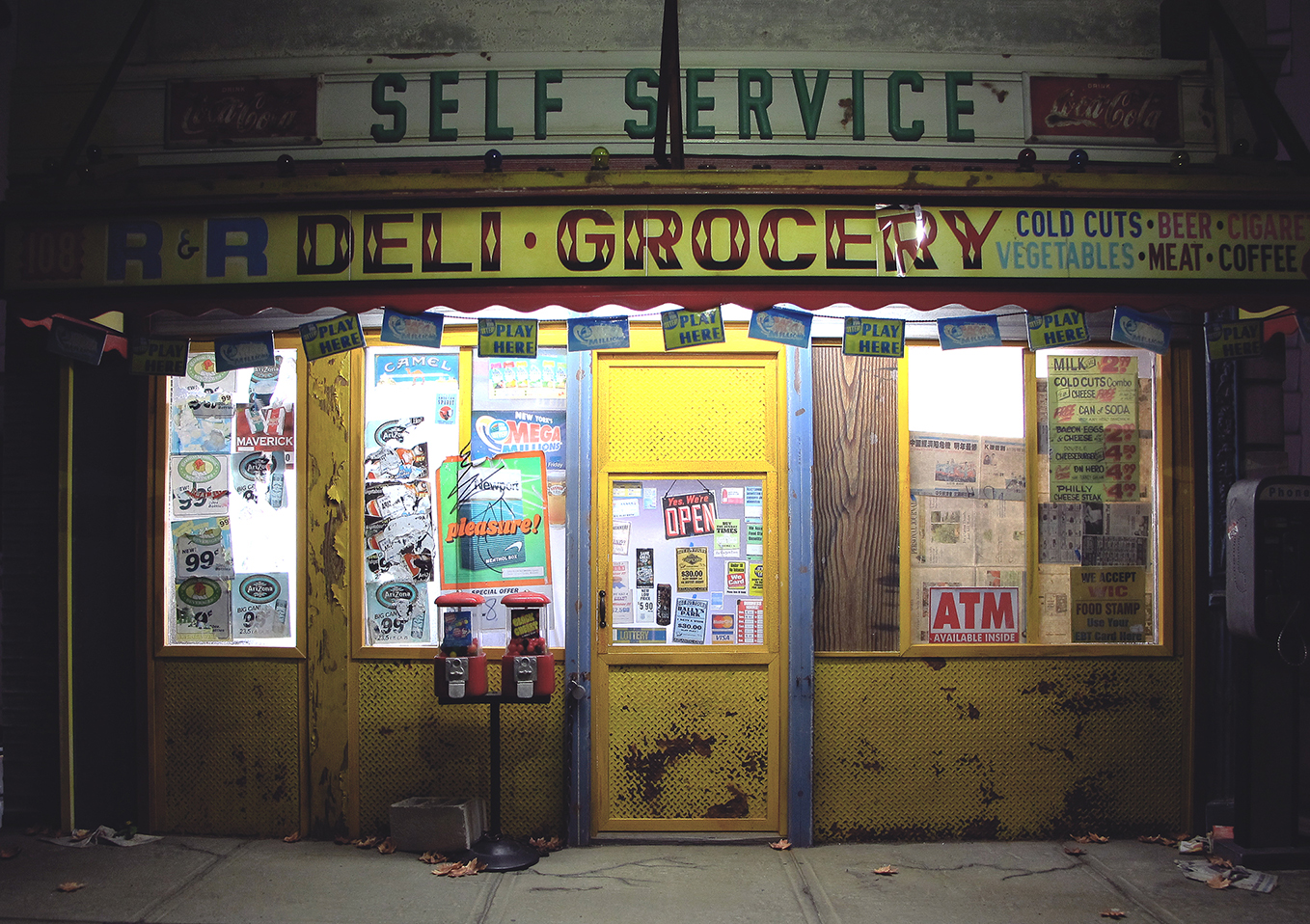 Bodega at night miniature sculpture randy hage for Craft stores in nyc