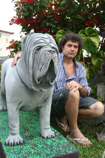 how to make a paper mache dog sculpture