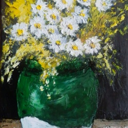 Summer flowers in a vase