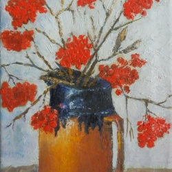 Still life with red fruits