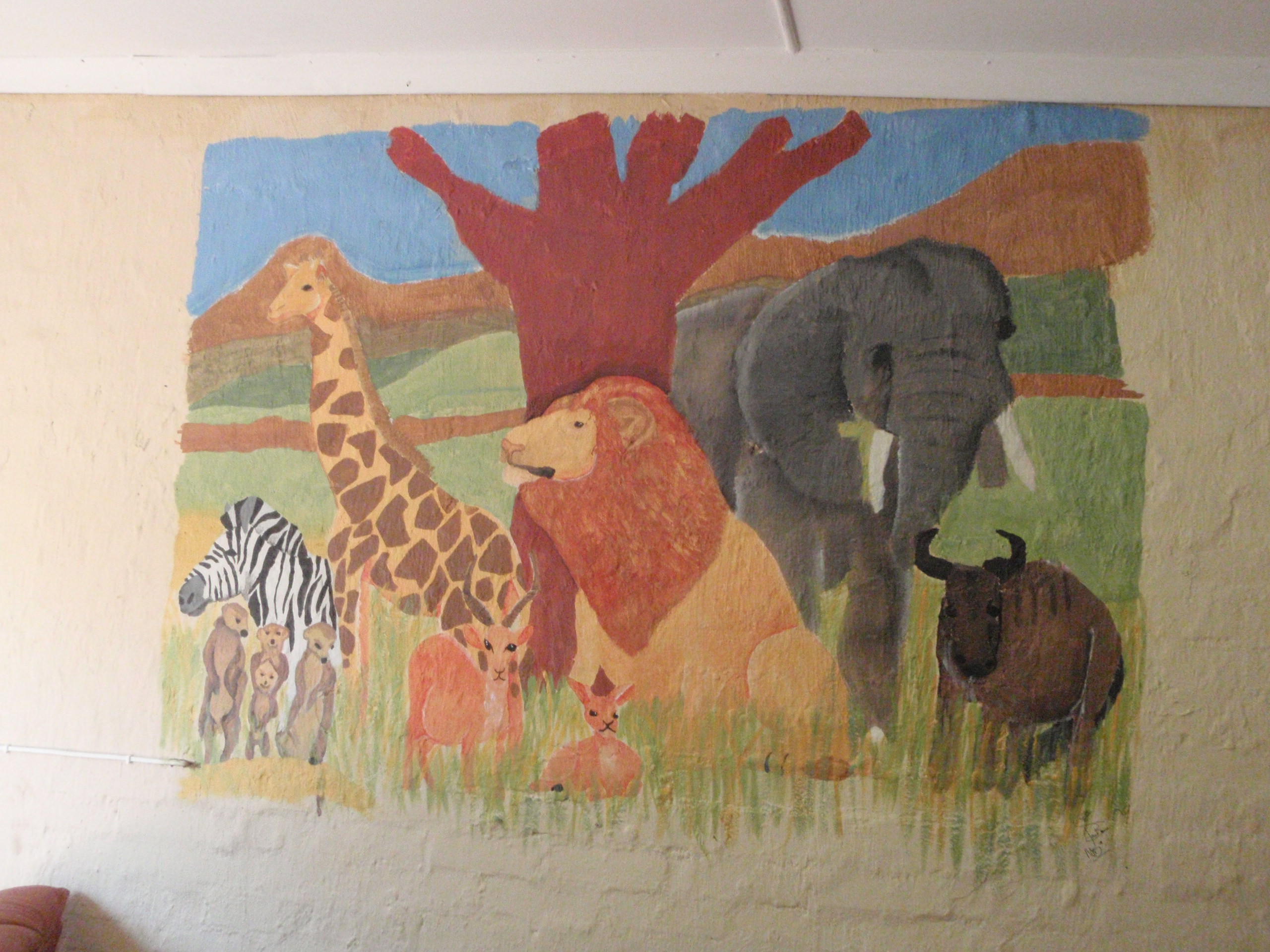 african animal mural c wegman foundmyself