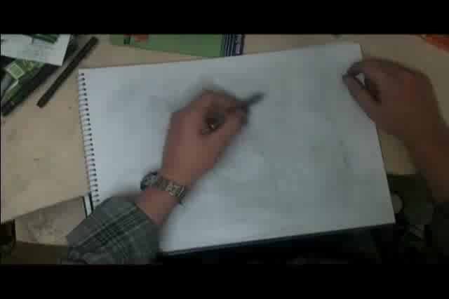 Video of Kurt Cobain drawing being made.