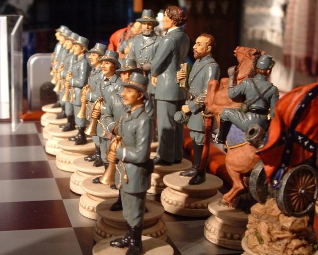 Confederate Army Chess Set