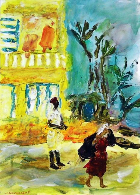 The woman carries all Monastir