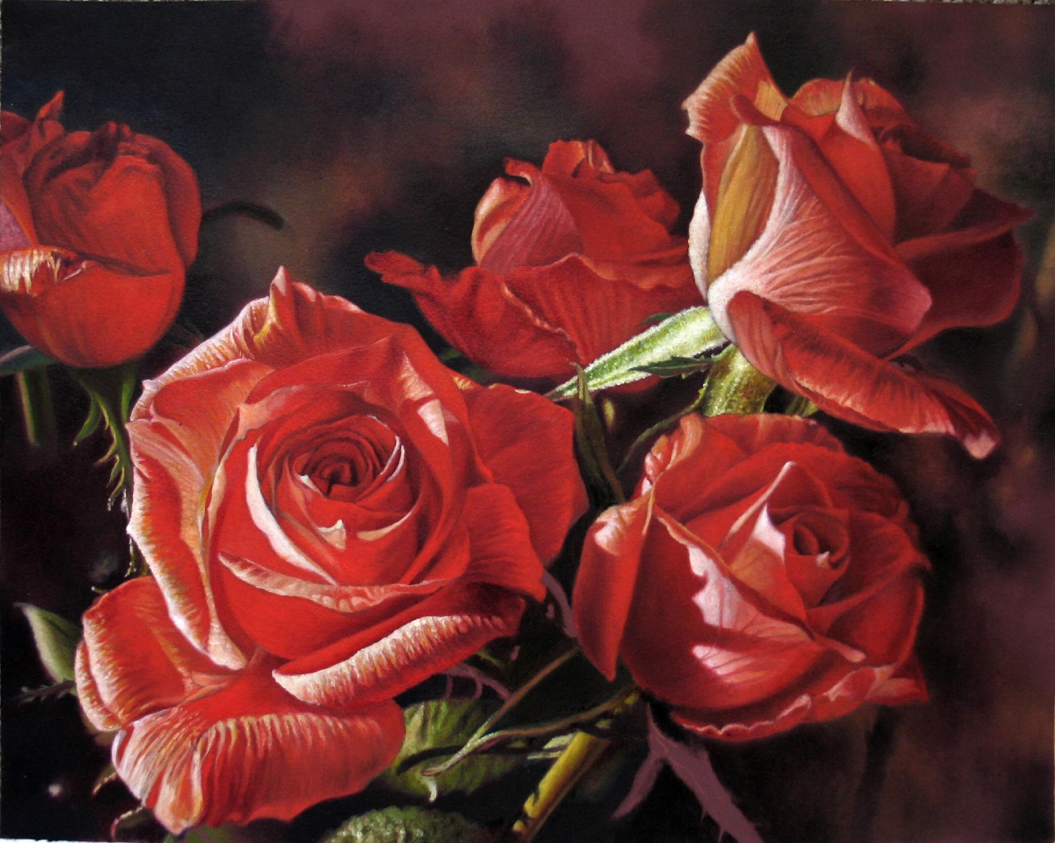 Red Roses Oil Painting | Stephen Shooter | Foundmyself: www.foundmyself.com/Stephen+Shooter/art/red-roses-oil-painting/86864