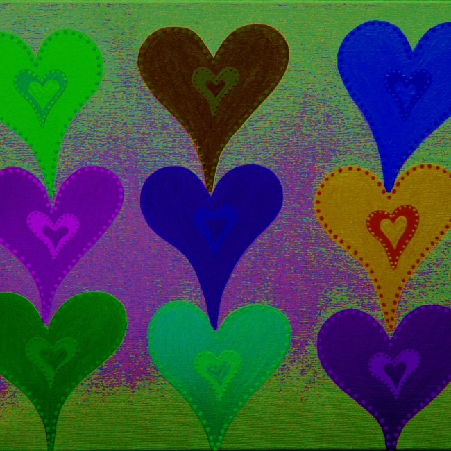 Touching Hearts Dark Blue